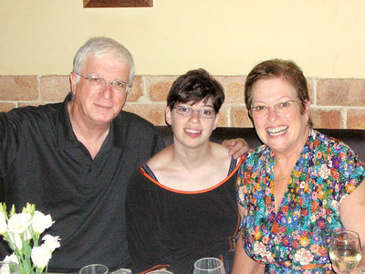 Zmora Gutbir, 28, with her mother, Atalia, and father, Avraham