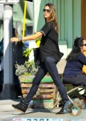 pregnant Alessandra Ambrosio out in LA