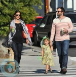 pregnant Alessandra Ambrosio with daughter Anja and boyfriend Jamie Mazur out in LA