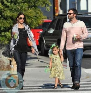 pregnant Alessandra Ambrosio with daughter Anja and boyfriend Jamie Mazur out in LA