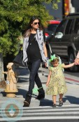 pregnant Alessandra Ambrosio with daughter Anja out in LA