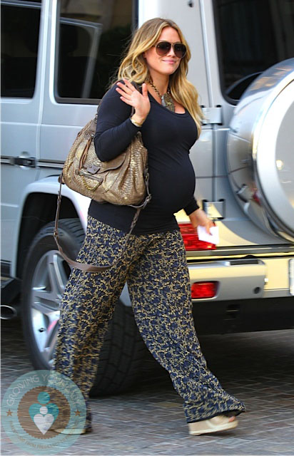Pregnant Hilary Duff Arrives The Montage Beverly Hills