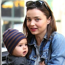 Miranda Kerr and Flynn Play In The City