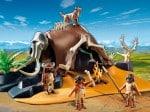 playmobil 2012 Mammoth Skeleton Tent with Cavemen