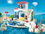 Playmobil 2012 Harbor Police Station with Speedboat