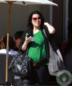 A pregnant Neve Campbell in LA