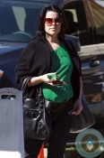 A pregnant Neve Campbell out in LA