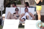 Adam Sandler and Jackie Titone with daughters sunny and sadie miami