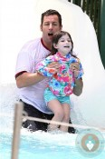 Adam and Sunny Sandler waterslide Miami