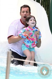 Adam and Sunny Sandler waterslide Miami