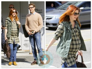 Alyson Hannigan out shopping with Brad Goreski