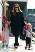 Angelina Jolie out in New Orleans with Vivienne and Zahara
