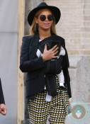 Beyonce Knowles with baby Blue Ivy in Tribeca