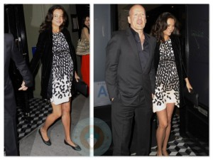 Bruce Willis and pregnant wife Emma Heming at Craigs restaurant