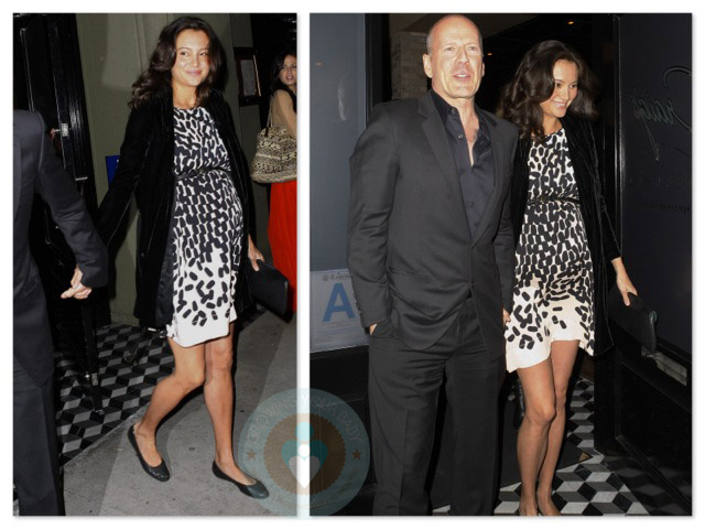 bruce willis and wife expecting Bruce Willis Feud