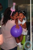 Christina Milian at daughter Violet Nash's 2nd birthday