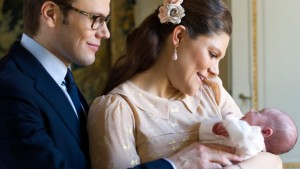 Crown Princess Victoria and  Prince Daniel with princess estelle