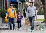 David Beckham with son Cruz and Brooklyn