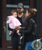 David Blaine and fiancee Alizee Guinochet with their daughter