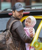 David Blaine and his daughter in NYC
