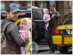 David Blaine with his daughter and partner Alizee Guinochet