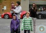 David and Victoria Beckham with Harper, Cruz and Romeo