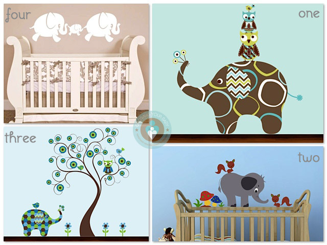 Elephant Nursery Decals