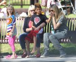 Heid Klum at the park with her kids