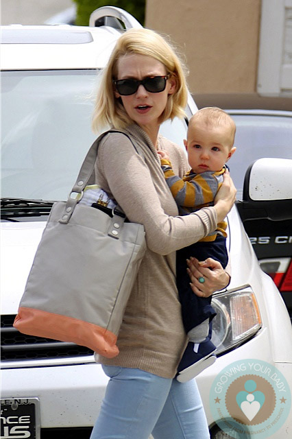 January Jones & Xander Visit The Doctors