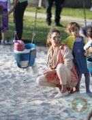 Jessica Alba with daughters Honor & Haven at Coldwater Creek Park