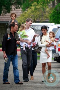 Matthew McConaughey, Camila Alves with kids Vida & Levi