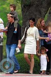 Matthew McConaughey and Camila ALves with kids Vida & Levi