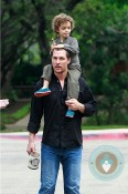 Matthew McConaughey and son Levi at church