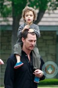 Matthew McConaughey with son Levi at Church