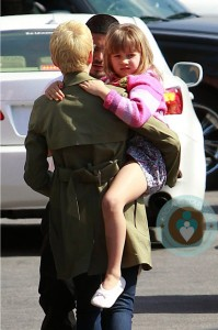 Michelle Williams carrying Matilda Ledger in LA