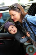 Miranda Kerr and son flynn in NYC