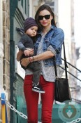 Miranda Kerr and son flynn out in NYC