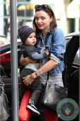 Miranda Kerr & son flynn out in NYC