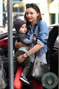 Miranda Kerr & son flynn out in NYC