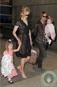 Nicole Kidman and Keith Urban with daughters Sunday Rose & Faith Margaret at LAX