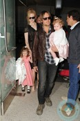 Nicole Kidman and Keith Urban with daughters Sunday Rose  and Faith Margaret @ LAX