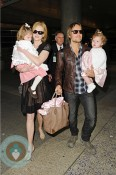 Nicole Kidman and Keith Urban with daughters Sunday Rose  and Faith Margaret at LAX
