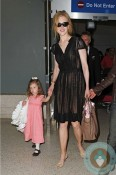 Nicole Kidman and Sunday Rose @ LAX