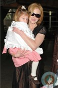 Nicole Kidman and Sunday Rose at LAX