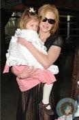Nicole Kidman and Sunday Rose at LAX