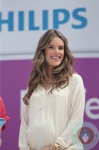 Pregnant Alessandra Ambrosio Promotes Philips Satin Perfect