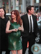 Pregnant Alyson Hannigan, Alexis Denisof at LA Premiere of American Reunion