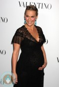 Pregnant Molly Sims Red Carpet Valentino 50th Anniversary