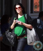 Pregnant Neve Campbell in LA