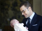 Prince Daniel with princess Estelle